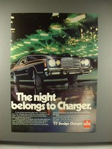 1977 Dodge Charger Car Ad - The Night Belongs - $14.99