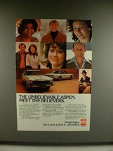 1977 Dodge Aspen Car Ad - Meet the Believers - $14.99