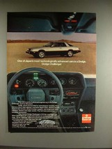 1980 Dodge Challenger Car Ad - Most Advanced - $14.99