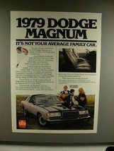 1979 Dodge Magnum Ad - Not Your Average Family Car - $14.99