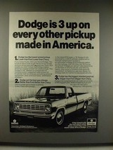 1976 Dodge D-100 Adventurer Pickup Truck Ad - 3 Up - $14.99