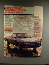 1983 Dodge Rampage Truck Ad - Payload Philosophy - $14.99