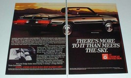1984 Dodge 600 ES Turbo Convertible Car Ad - Meets Sky - $14.99