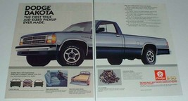 1987 Dodge Dakota Truck Ad - First Mid-Sized Ever Made - $14.99