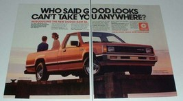 1986 Dodge Ram 50 Truck Ad - Good Looks - $14.99
