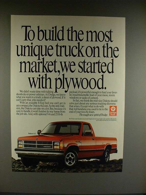 1990 Dodge Dakot 4x2 Truck Ad - Build Unique!