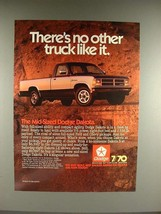 1987 Dodge Dakota LE Truck Ad - No Other Like It! - $14.99