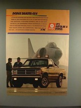 1987 Dodge Dakota 4x4 Truck Ad - Gotta be a Dodge - $14.99