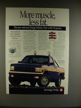 1991 Dodge Dakota 4x4 Sport Truck Ad - More Muscle - $14.99