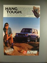 1989 Dodge Raider Truck Ad - Hang Tough! - $14.99