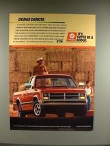 1988 Dodge Dakota Truck Ad - It's Gotta be a Dodge - $14.99
