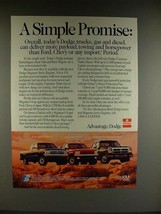 1991 Dodge Dakota Club Cab, Sport, Ram Cummins Truck Ad - $14.99