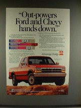 1992 Dodge Dakota LE Club Cab Truck Ad - Out-powers - $14.99