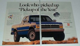 1992 Dodge Dakota LE Club Cab Truck Ad - Pickup of Year - $14.99