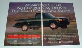 1994 Dodge Dakota Sport Truck Ad - Power and Safety - $14.99