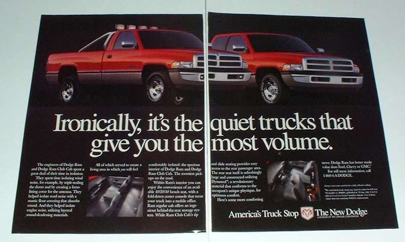 Primary image for 1995 Dodge Ram, Ram Club Cab Truck Ad - Ironically
