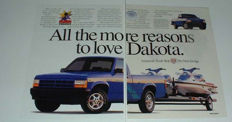 Primary image for 1995 Dodge Dakota Sport V-6 4x2 Truck Ad - More Reasons