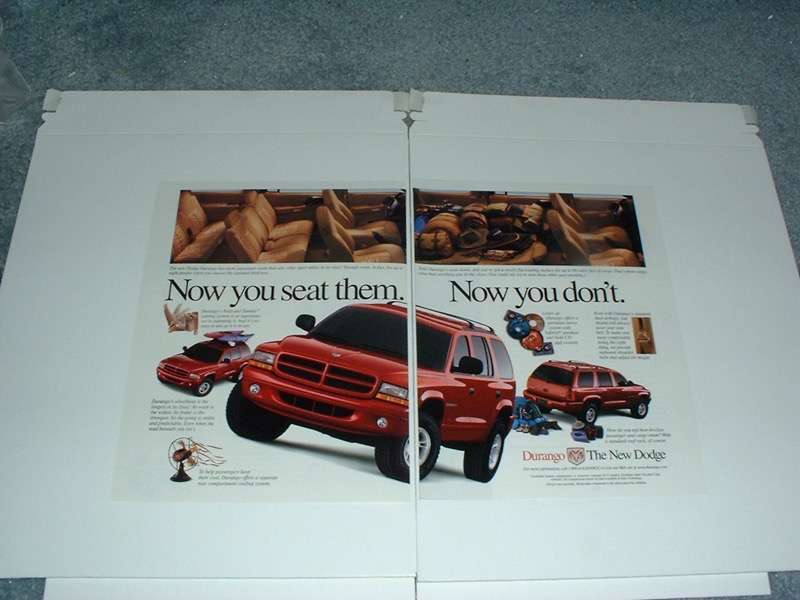 Primary image for 1998 Dodge Durango Truck Ad - Now you Seat Them