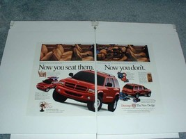 1998 Dodge Durango Truck Ad - Now you Seat Them - $14.99