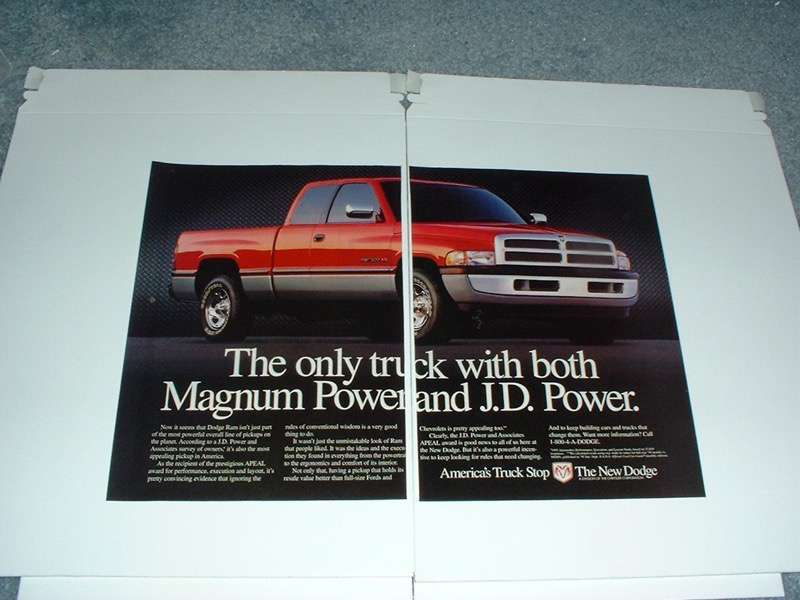 Primary image for 1996 Dodge Ram 1500 Pickup Truck Ad - Magnum Power