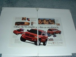 1998 Dodge Durango Ad - SUVs Might See an Obstacle - $14.99