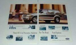 1995 Ford Explorer Ad - Preventive Medicine for Road - $14.99