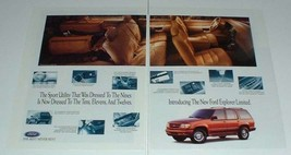 1995 Ford Explorer Limited Ad - Dressed to the Nines - $14.99