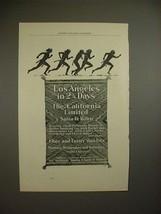 1898 Santa Fe Railway Ad - California Limited Train - $14.99