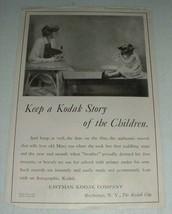 1919 Kodak Camera Ad - Keep A Kodak Story of Children - $14.99