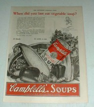 1923 Campbell's Vegetable Soup Ad - Last Eat - $14.99