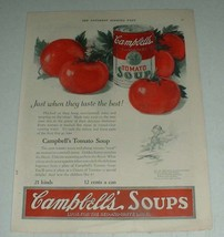 1923 Campbell's Tomato Soup Ad - Taste the Best - $14.99