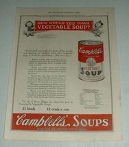 1923 Campbell's Vegetable Soup Ad - How You Make - $14.99