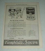 1921 Campbell's Tomato Soup Ad - Hit of the Evening - $14.99