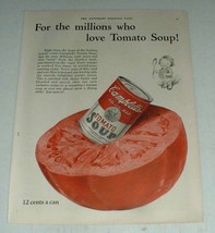 1923 Campbell's Tomato Soup Ad - For the Millions - $14.99