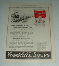 1922 Campbell's Tomato Soup Ad - Acres and Acres - $14.99
