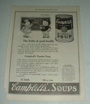 1921 Campbell's Tomato Soup Ad - Fruits of Good Health - $14.99