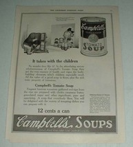 1921 Campbell's Tomato Soup Ad - Takes with Children - $14.99