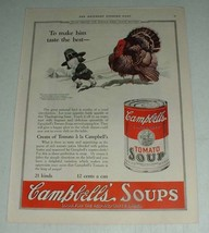 1923 Campbell's Tomato Soup Ad - Make Him Taste the Best - $14.99