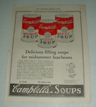 1922 Campbell's Vegetable-Beef, Vegetable, Beef Soup Ad - $14.99