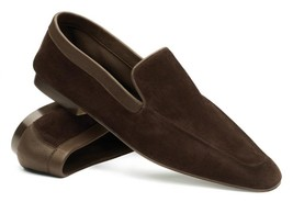 Handmade Mens brown suede moccasins shoes slip ons, Men casual shoes, Me... - $159.99