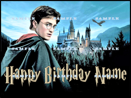 HARRY POTTER: Personalized edible image cake topper 1/4 sheet - $8.78+