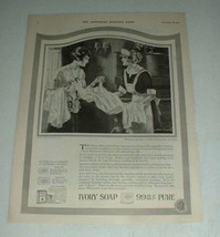 1921 Ivory Soap Ad w/ Art by Edward C Caswell - $14.99