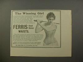 1900 Ferris Good Sense Corset Waist Ad - Winning Girl - $14.99