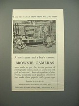 1913 Kodak Brownie Camera Ad - A Boy's Sport - $14.99
