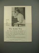 1913 Kodak Camera Ad - Make Home Portraits - $14.99