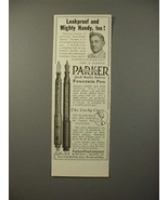 1913 Parker No 23 1/2, 20 Fountain Pen Ad - Leakproof - $14.99