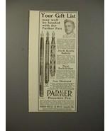 1913 Parker No 14, 20 1/2, 42 1/2 Fountain Pen Ad - $14.99