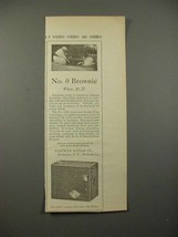 1914 Kodak No. 0 Brownie Camera Ad - NICE! - $14.99