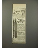 1913 Parker No 23 1/2, 20 Fountain Pen Ad - Can't Leak - $14.99