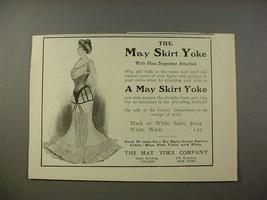1902 May Skirt Yoke w/ Hose Supporter Ad - $14.99